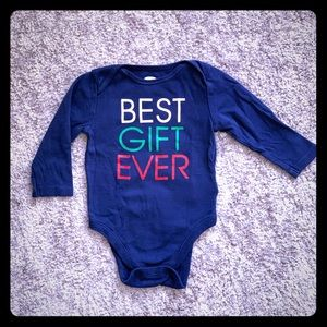 """""""Best Gift Ever"""" Holiday Bodysuit by Old Navy"""